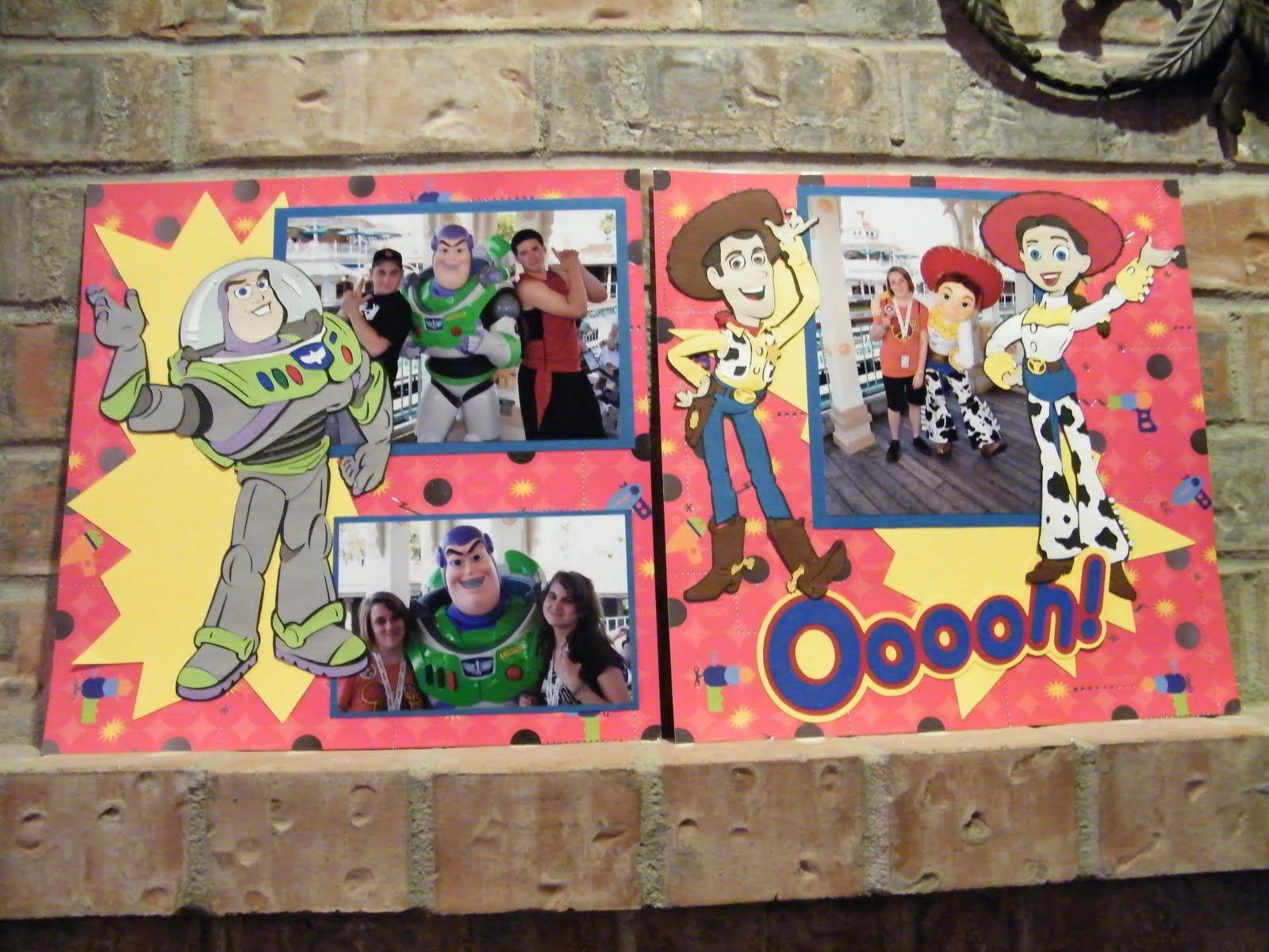 Scrapbook ideas using cricut - Toy Story Cricut Cartridge Created Using Cricut Toy Story Cartridge Disney Scrapbookscrapbook Layoutstoy