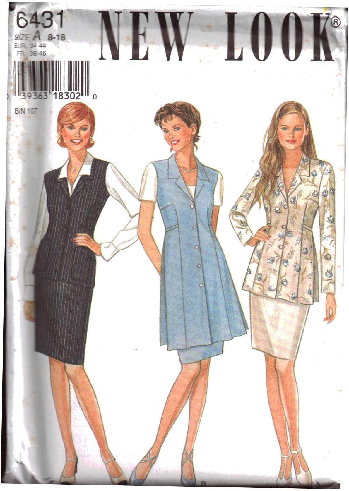 New look blouse long vest short vest skirt size a