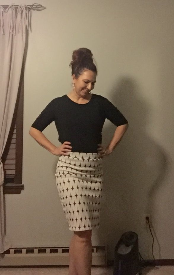 Dear Stitch Fix Stylist - I  don't wear skirts all that often. Perhaps I just associate them with an office! I like the Renee C Leena Printed Skirt but would need ideas for dressing it down for everyday.