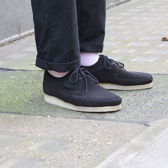 new high better price really cheap Clarks Originals Weaver - Black Suede | Wallabees in 2019 ...