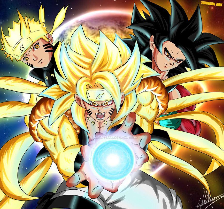 Goku And Naruto Fusion Goruto By Surgeon Art Dragonball Z Wallpaper Dragon Ball Painting Anime Dragon Ball Super