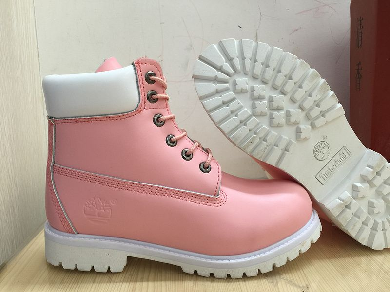 7bcd35dd15e Timberland 6 Inch Boots Pink White For Women