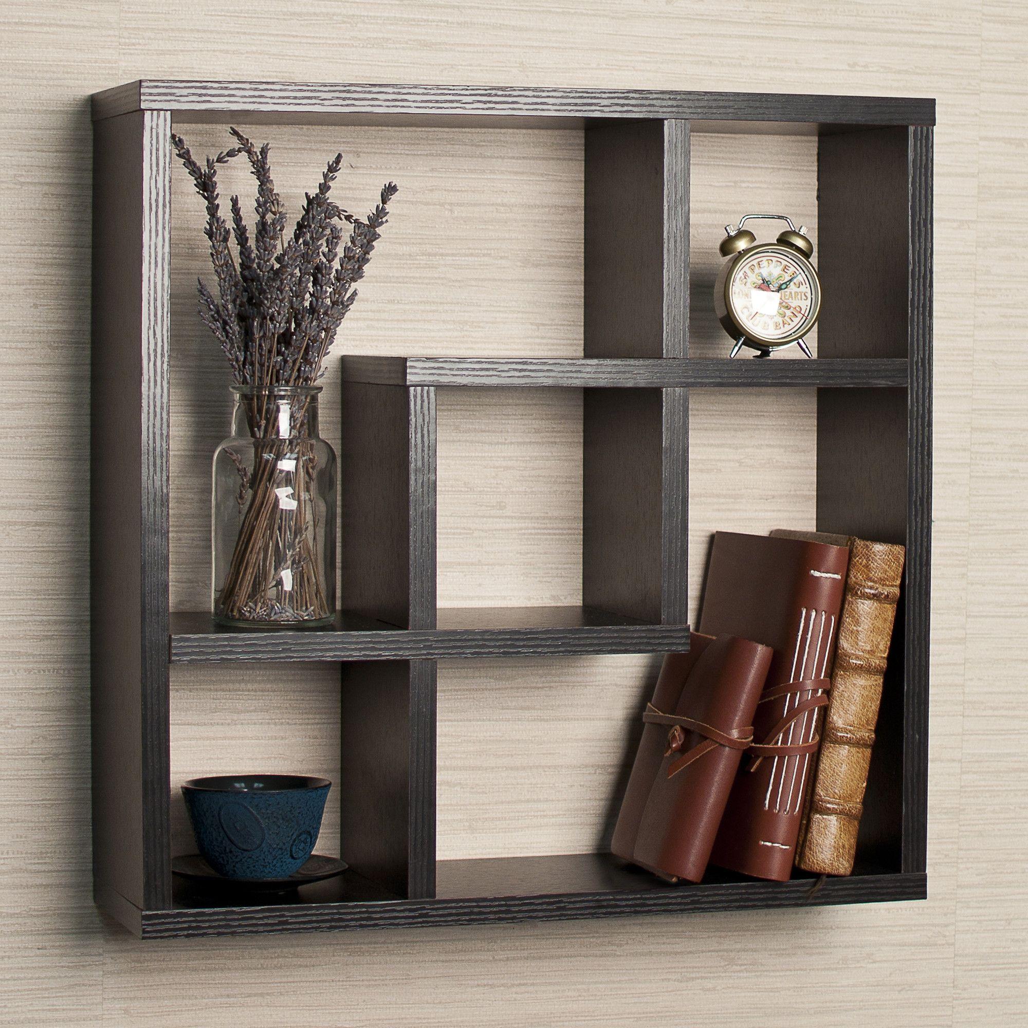 Danyab Geometric Square Wall Shelf Ii Reviews Wayfair Wandregal Schwarz Schwebende Regale Regal Display