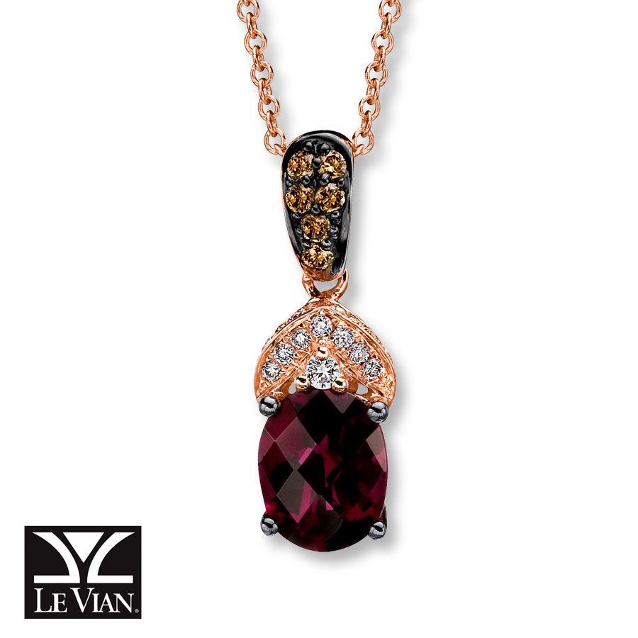 Le Vian Chocolate Quartz 1/5 ct tw Diamonds 14K Gold Necklace iaQbB