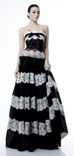 Black Flamenco Style Evening Dresses