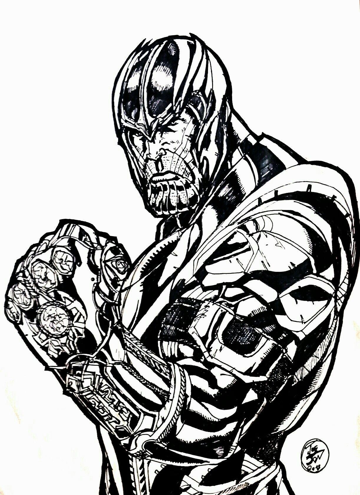 My Fan Art Of Thanos Avengers Infinity War Some Dope Villains