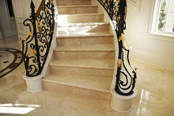 Crema Marfil Marble Home Interior Design House Design Marble Stairs