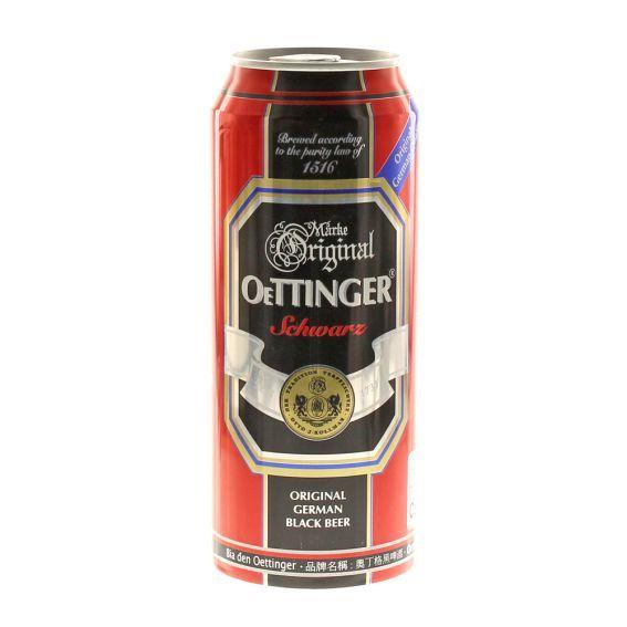 Bia Oettinger Đen 4,9% - Lon 500ml - Bia Nhập Khẩu