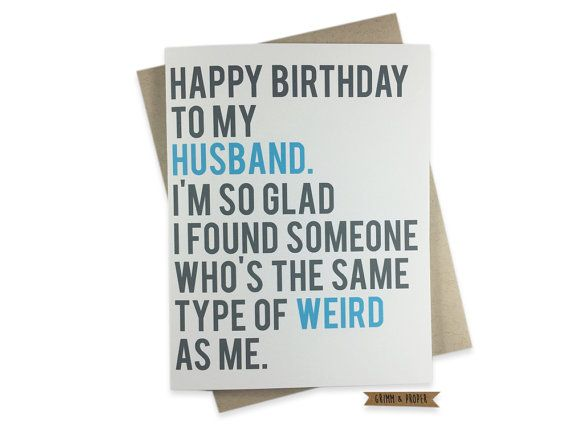 Funny husband birthday card husbands birthday weird love spouse funny husband birthday card husbands birthday weird love spouse partner bookmarktalkfo Image collections