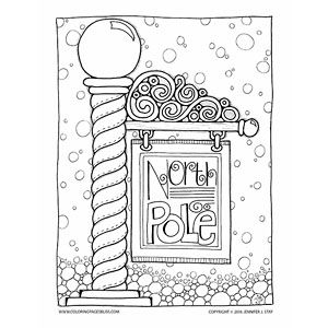north pole christmas coloring page