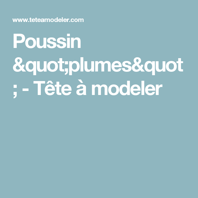 Poussin Plumes Pâques Pinterest