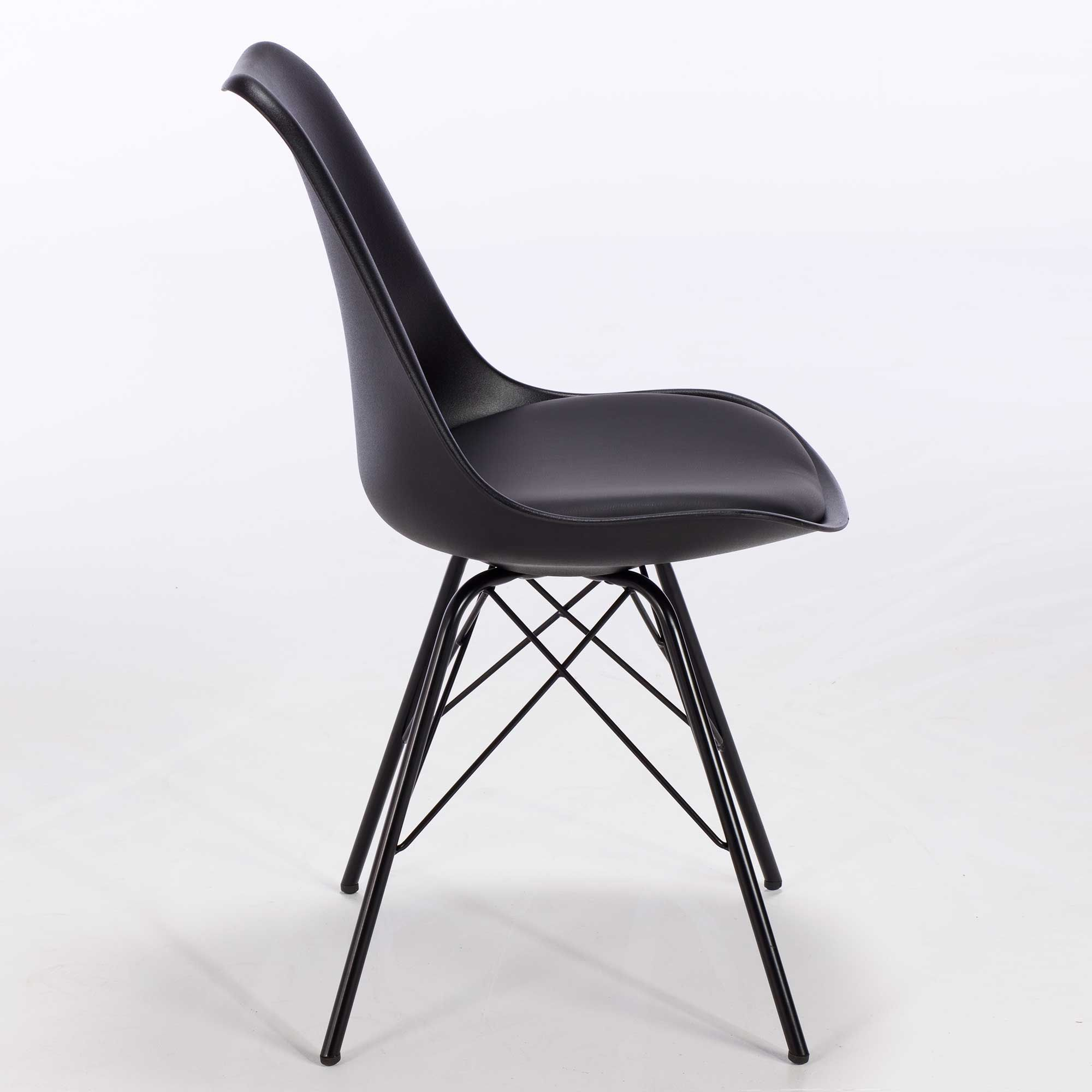 Kim Metal Dining Chair Black Dining Chairs Dining Room