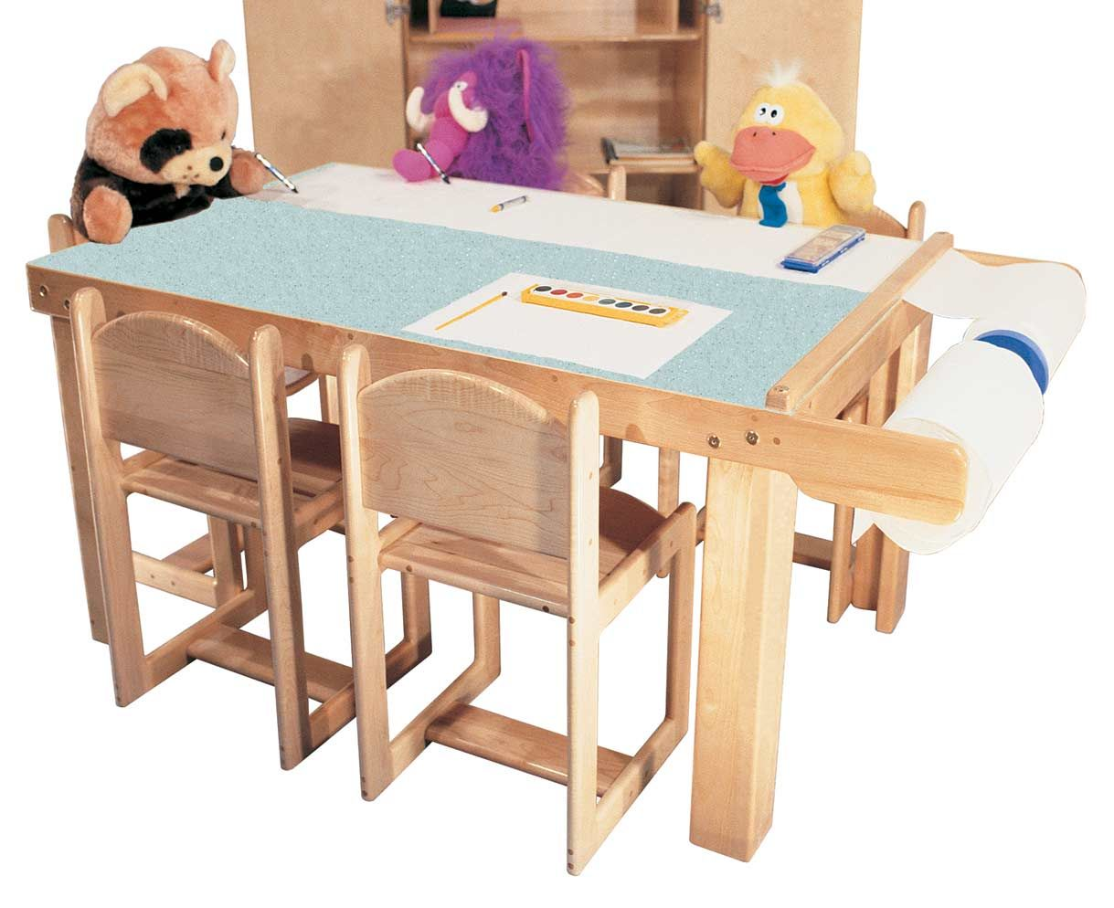 Mainstream Preschool Art Table For 5 W Paper Dispenser And Laminate Top,  56w X
