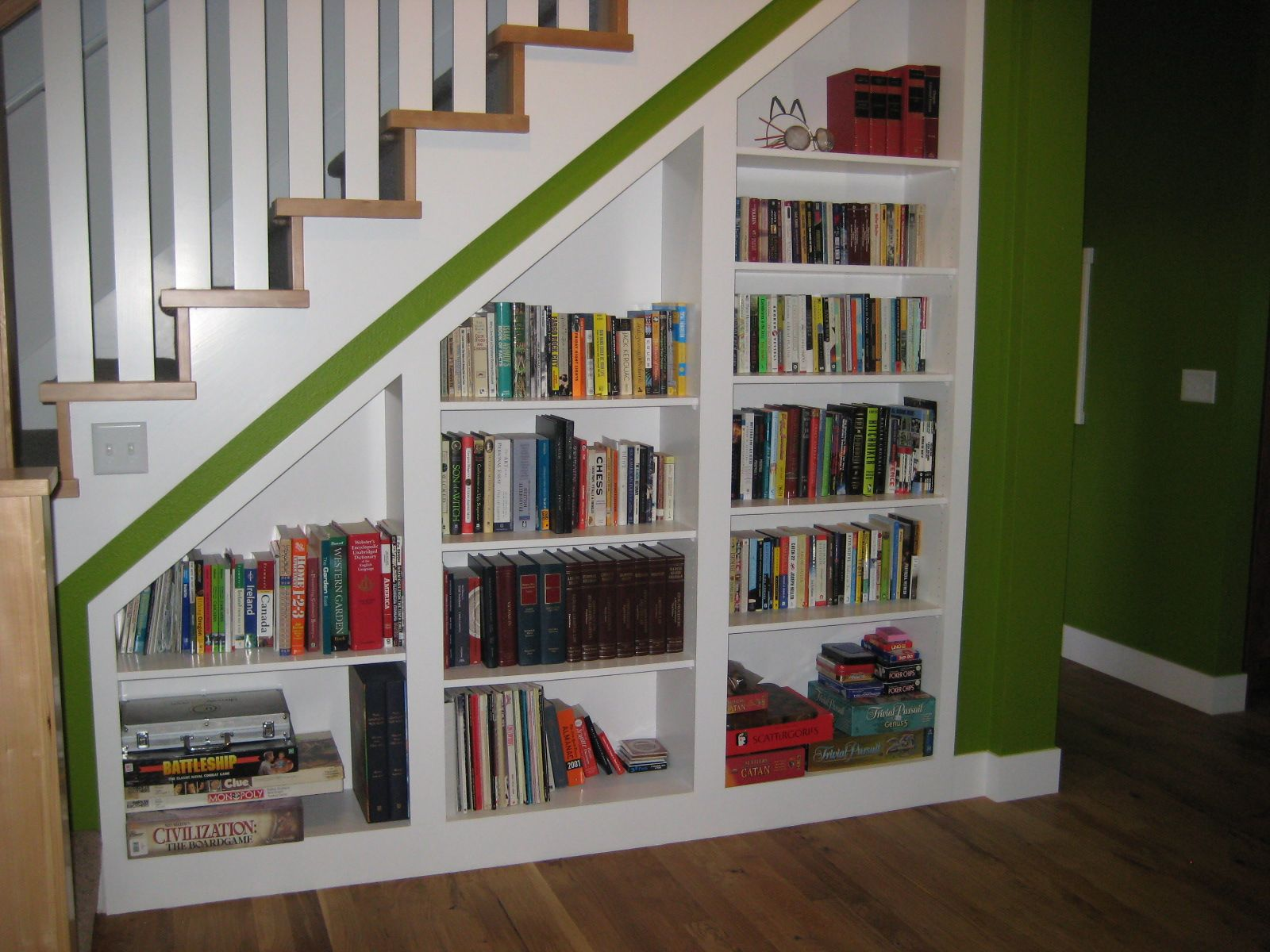 Under The Stairs Book Shelves (just In Case I Canu0027t Have A Whole