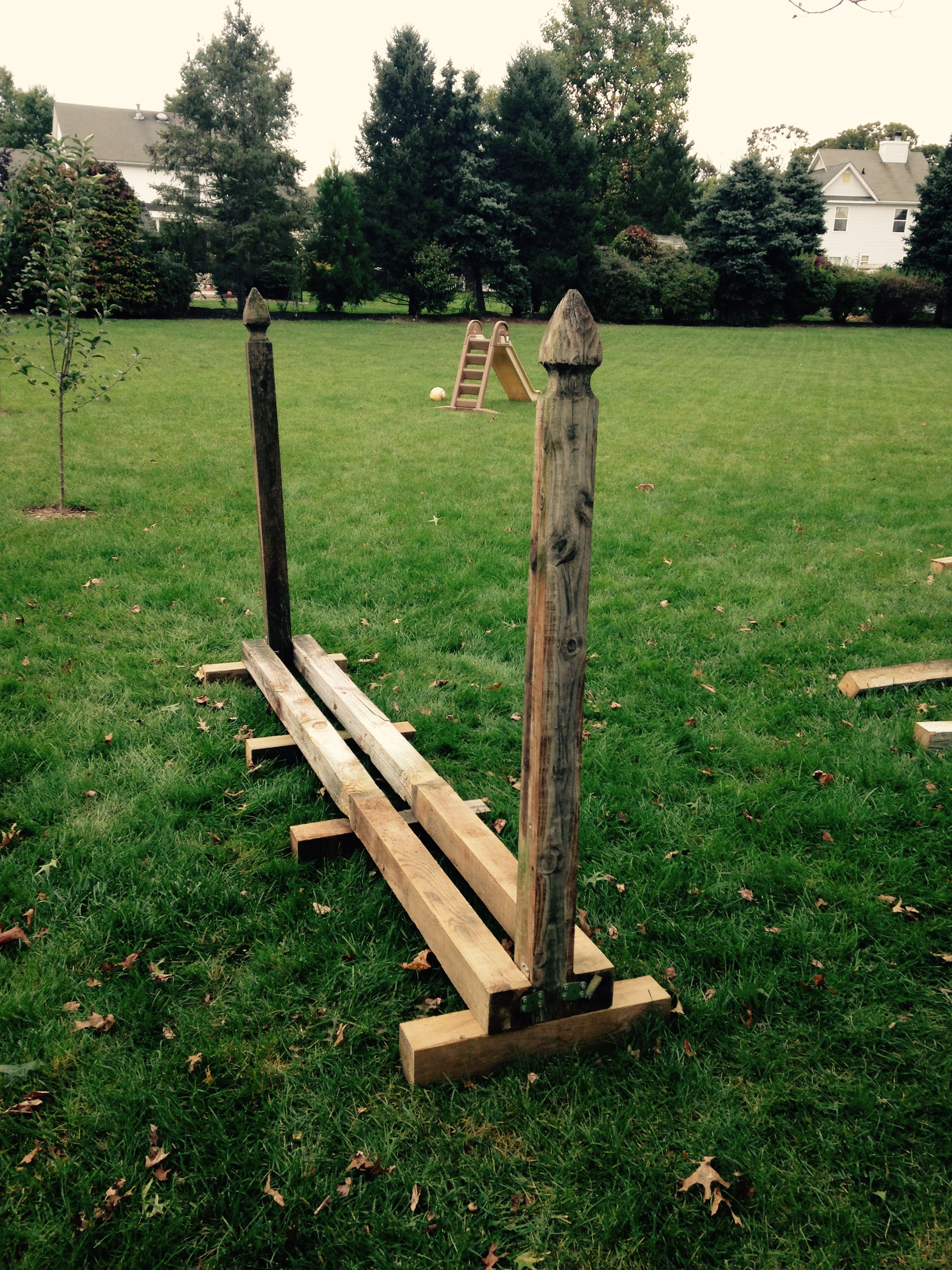 Firewood rack made from reclaimed fence posts simple diy