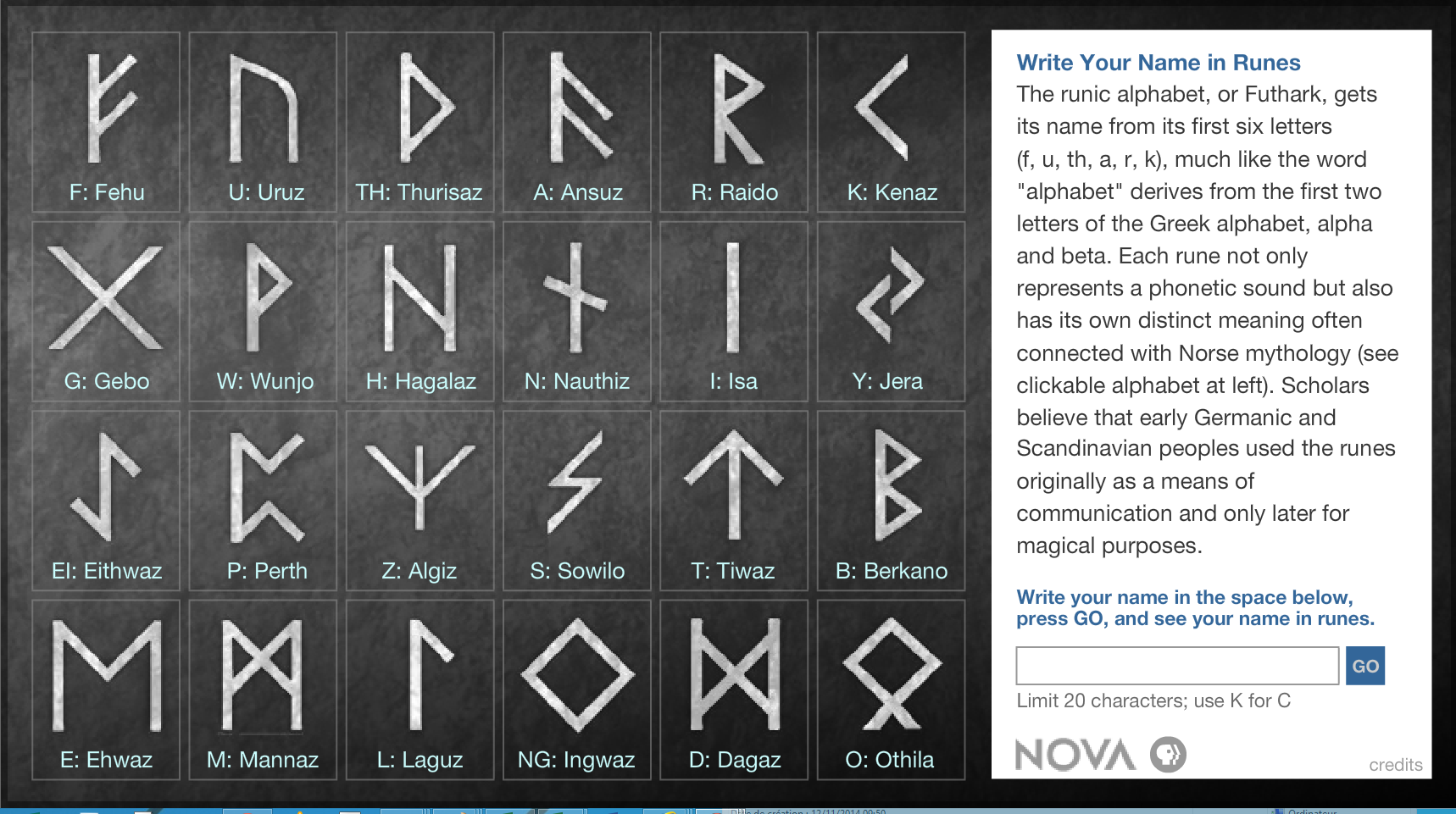 how to write my name in runes
