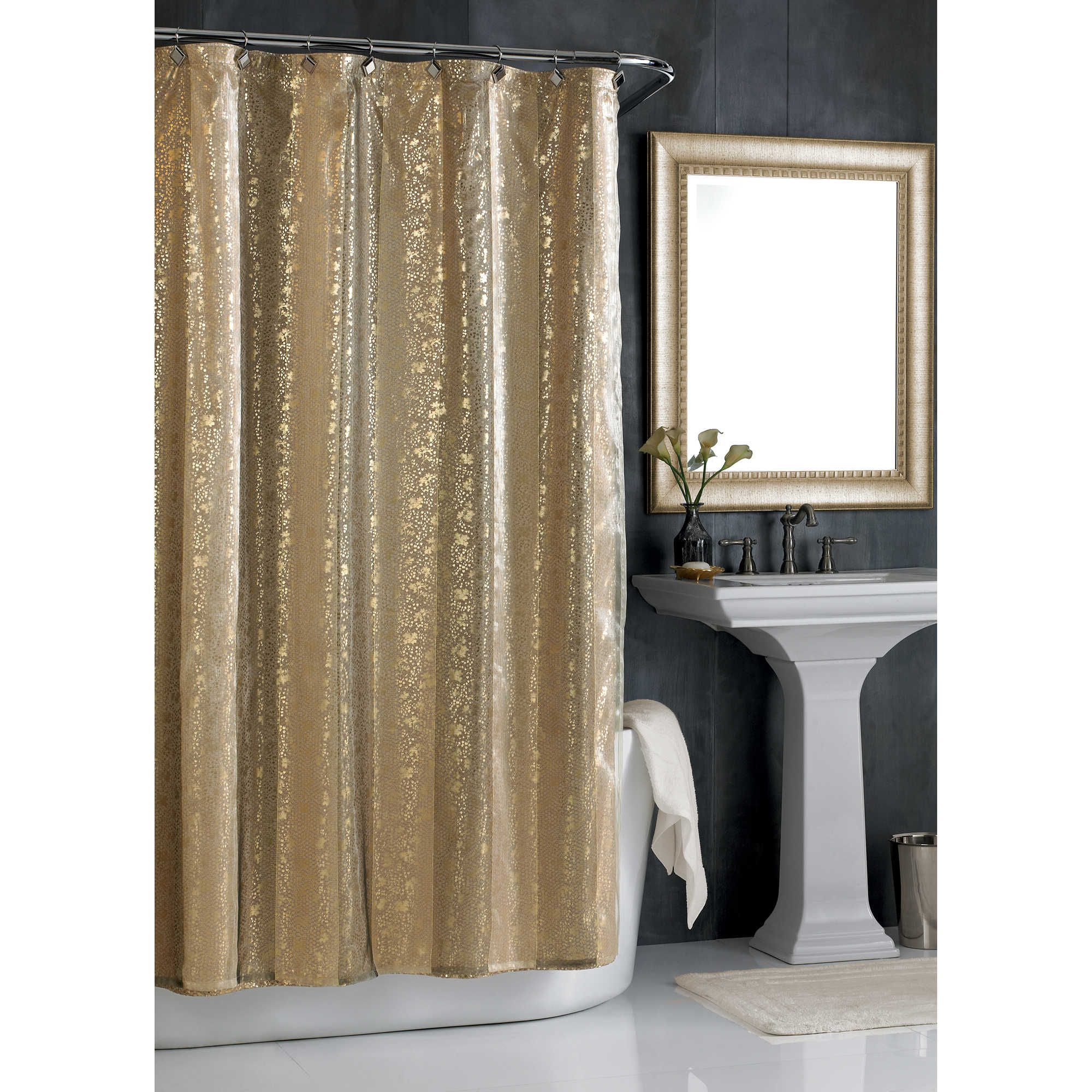 Sheer Bliss Shower Curtain In Gold Gold Shower Curtain Home
