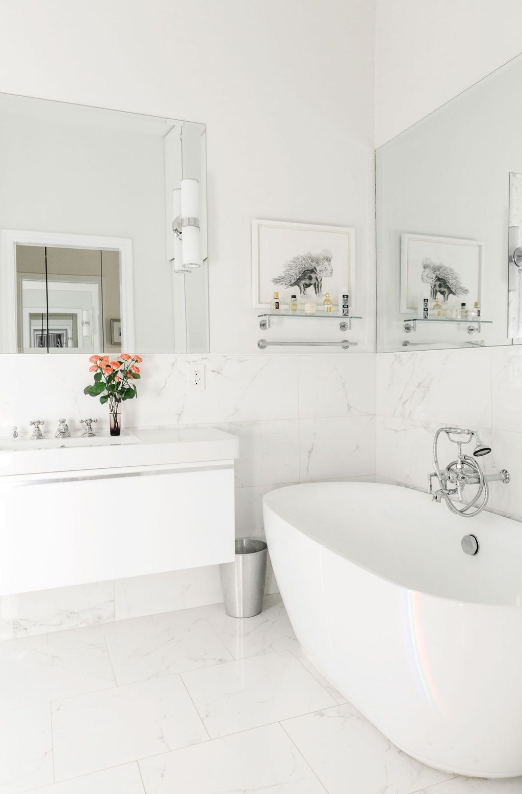 47 besten Ideen für weiße Badezimmerfliesen Designs