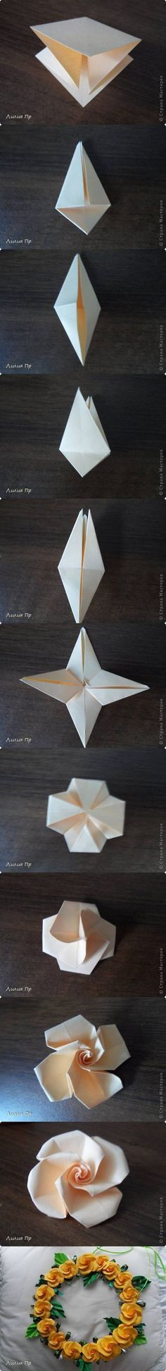 How To Diy Beautiful Origami Rose Origami Crafts And Origami Ideas