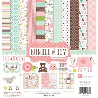 "Bundle Of Joy Girl Collection Kit 12""X12""-"