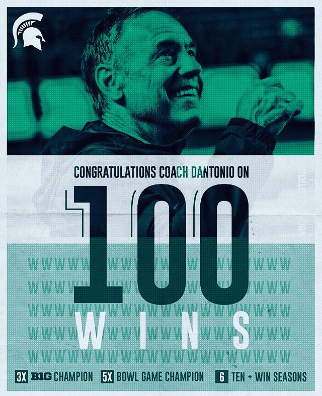 Thank you Coach Mark Dantonio! Victory for MSU Big ten