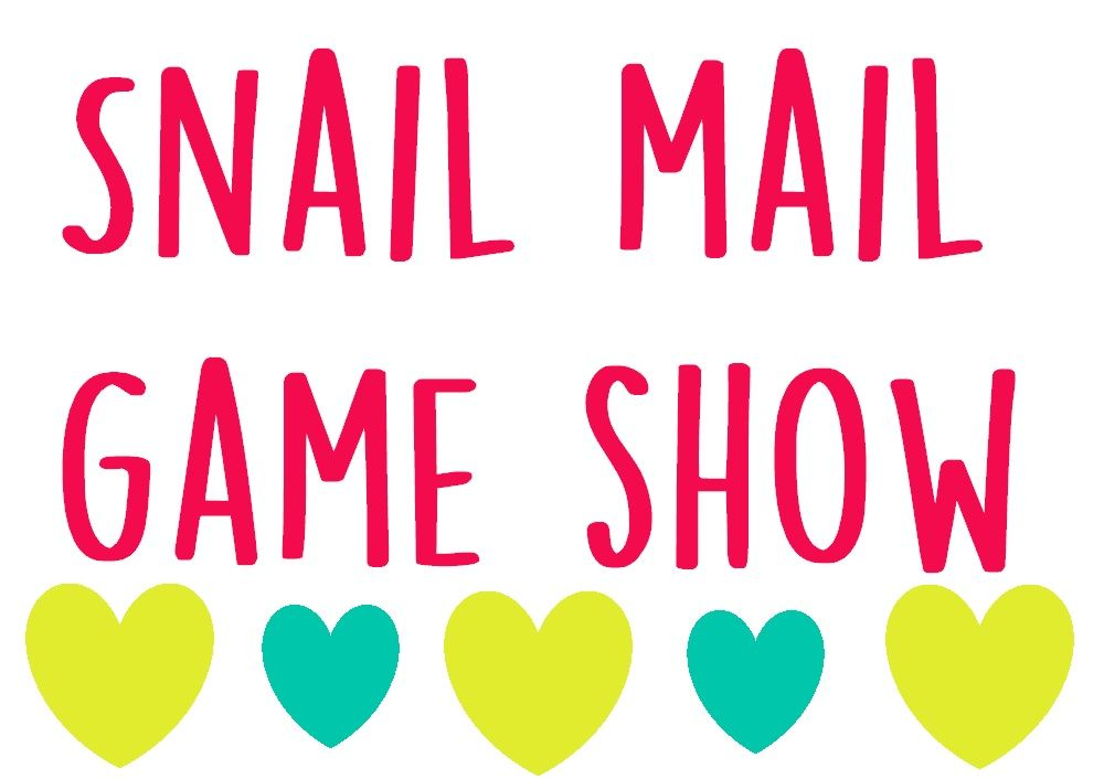 Snail Mail Game Show | Snail Mail | Snail mail, Mail art