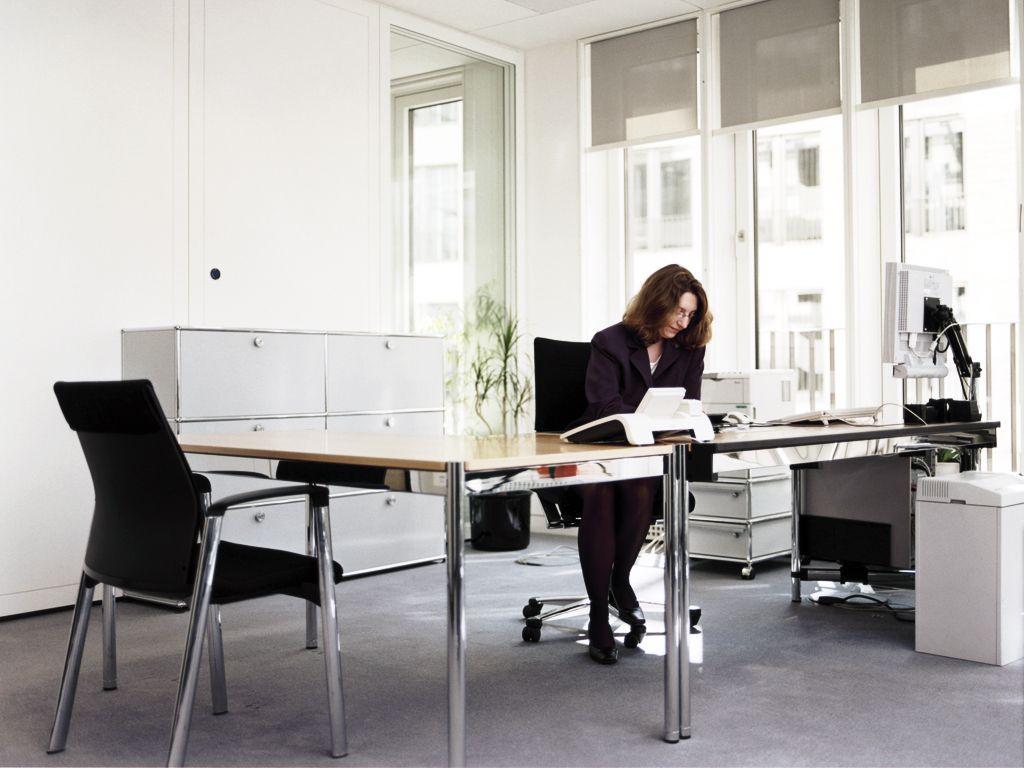 usm haller individual workstation table usm pinterest. Black Bedroom Furniture Sets. Home Design Ideas