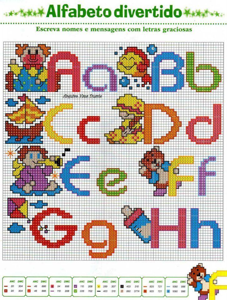 Pin di laura magon su alfabeti puntocroce alfabeto punto for Alfabeti a punto croce per bambini