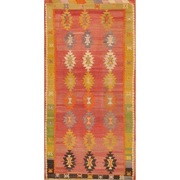 Apadana Inc. Kilim Multi-Colored Tribal Rug