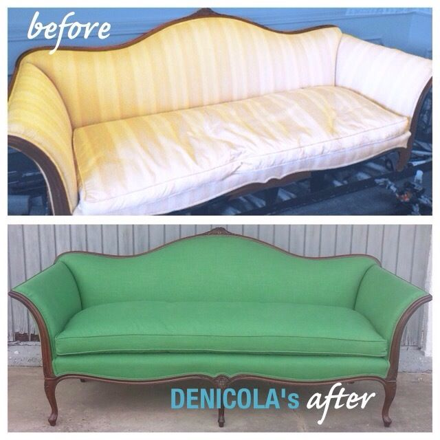 This Camelback Sofa Reupholstered In Kelly Green Linen Is All The Things And More Color Perfection Www Denicolasbr Sofa Reupholstered Reupholster Camelback