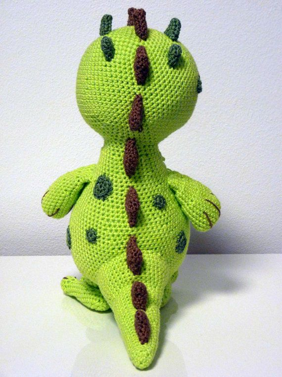 Crochet Pattern Dinosaur Lucky Amigurumi PDF Cute Green Dino Genuine ...