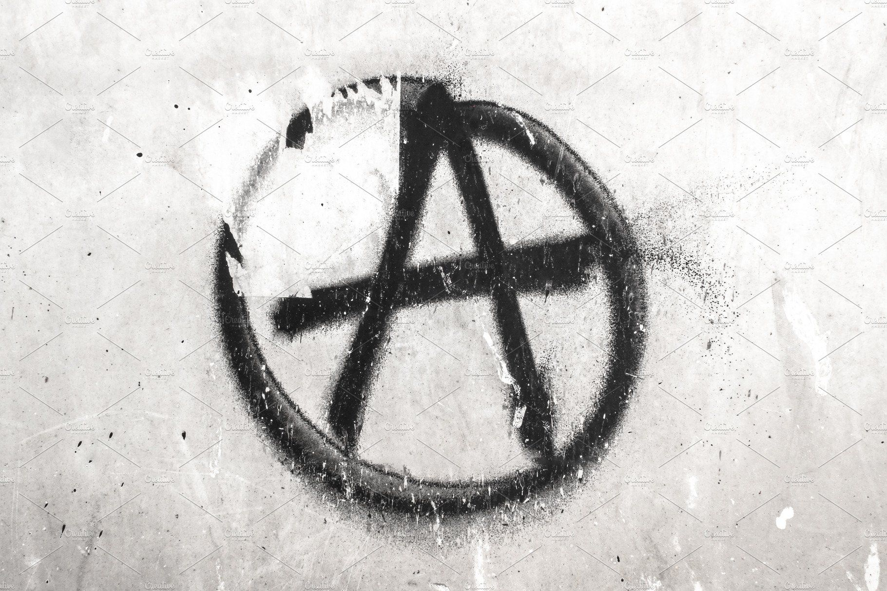 Symbol Of Anarchy Painted On A Wall Anarchy Symbol Anarchy Spray Paint Art