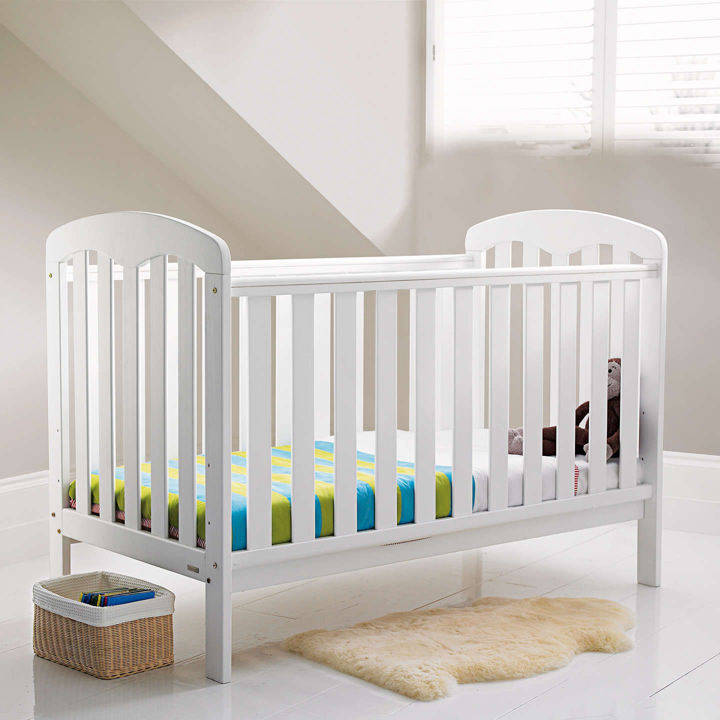 Buyjohn Lewis Rachel Cotbed, White Online At Johnlewiscom