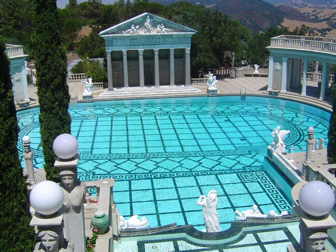Hearst castle pool my favorite pool i have ever seen for Castle gardens pool
