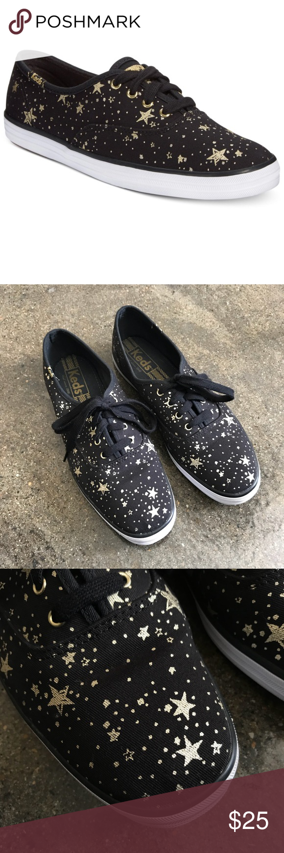 a12a0e5fa4b Keds Champion Celestial Sneakers Black Gold Star Great preowned condition. Keds  Shoes Sneakers