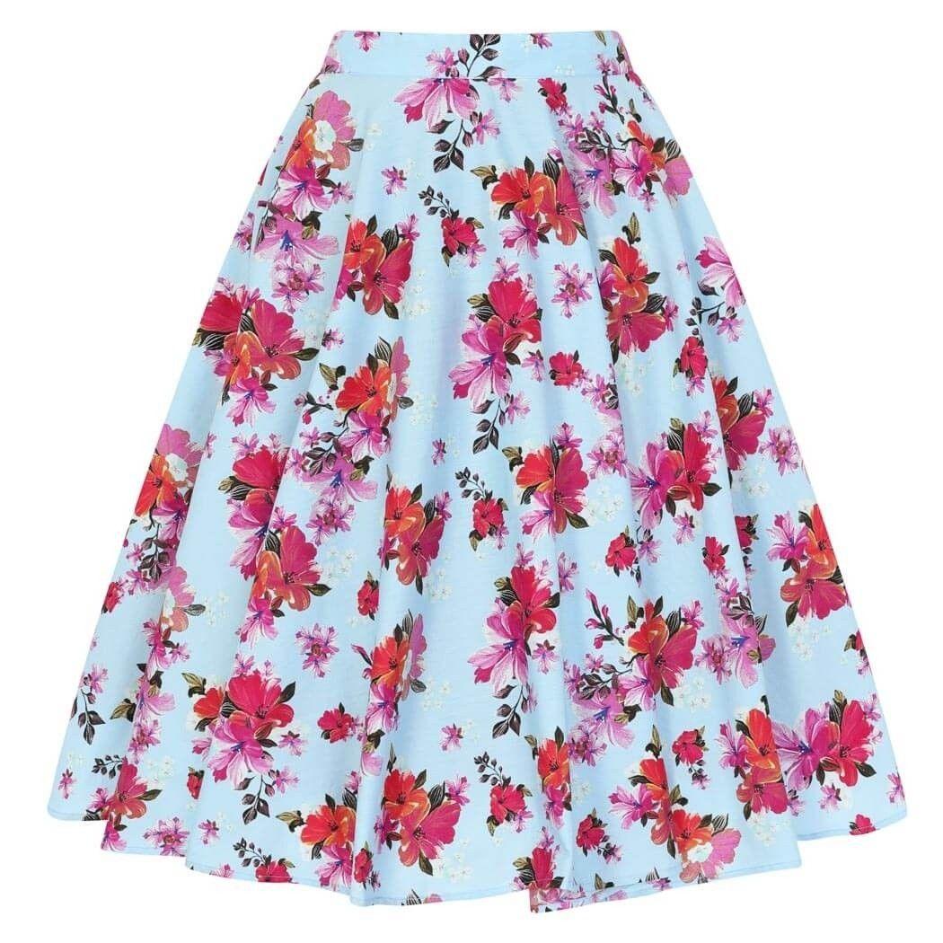 27a3b06fa9 Hell Bunny Alyssa Hibiscus 50's circle skirt . Standard and plus sizes.  #retroskirt #vintageskirt #vintageinspiredskirt #50sskirt #rockabillyskirt  ...