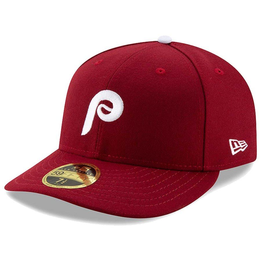 promo code 7da3e aff99 Men s Philadelphia Phillies New Era Maroon Alternate Authentic Collection  On-Field Low Profile 59FIFTY Fitted Hat, Your Price   37.99
