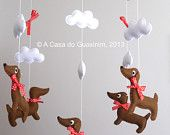 Party Favor Dachshund Set of 6 by acasadoguaxinim on Etsy