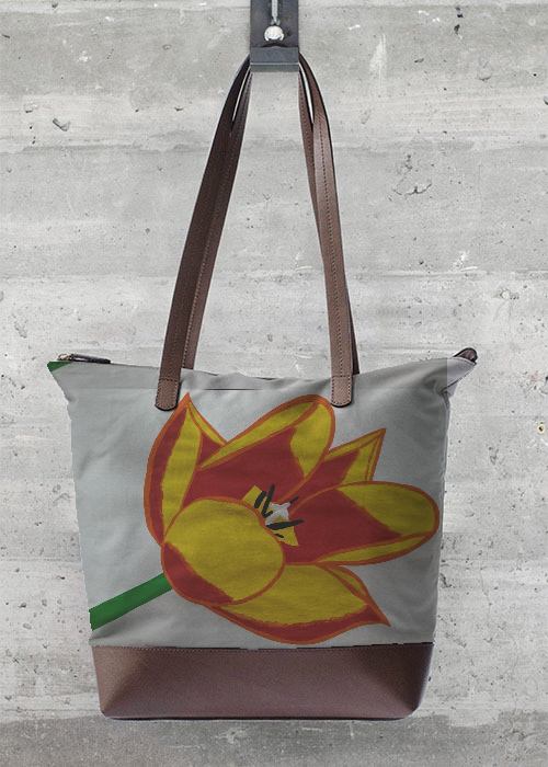 VIDA Foldaway Tote - Yellow Flower by VIDA NnIKWTN