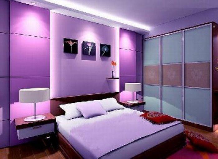 Purple Modern Bedroom Interior Scheme Home Interior Decor Bedroom Colors Purple Master Bedroom Bedroom Design