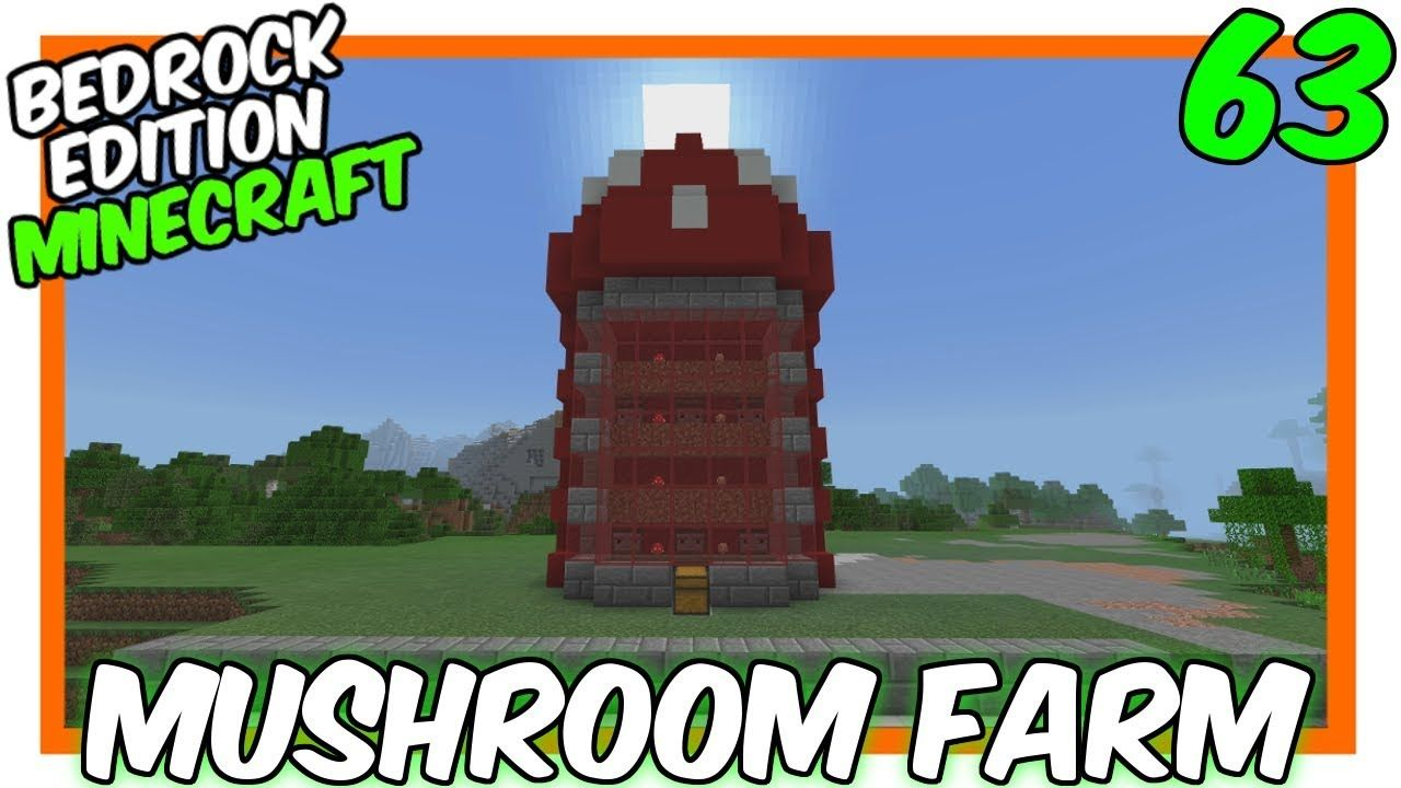 """New Style Auto Mushroom Farm"" [63] Minecraft Bedrock"