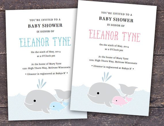 Whale Baby Shower Invitation Template For Word And By Itsprintable 12 00 Baby Shower Invitation Templates Baby Shower Invitations Whales Baby Shower