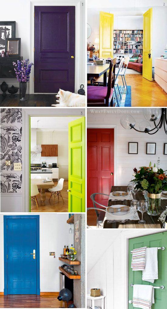peindre les portes du0027un couleur éclatante et différente pour chaque