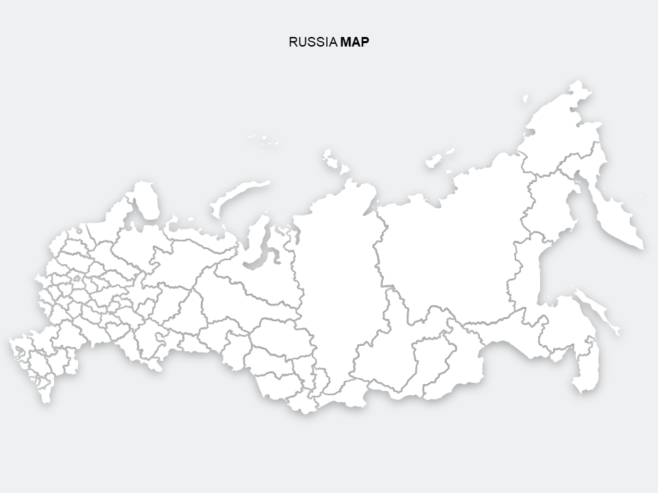 Flat Russia Map PowerPoint Templates - PowerPoint Free   MAP on flat united states map, flat eurasia map, flat great britain map, flat country map, flat europe map, flat us map, flat africa map, flat world maps,