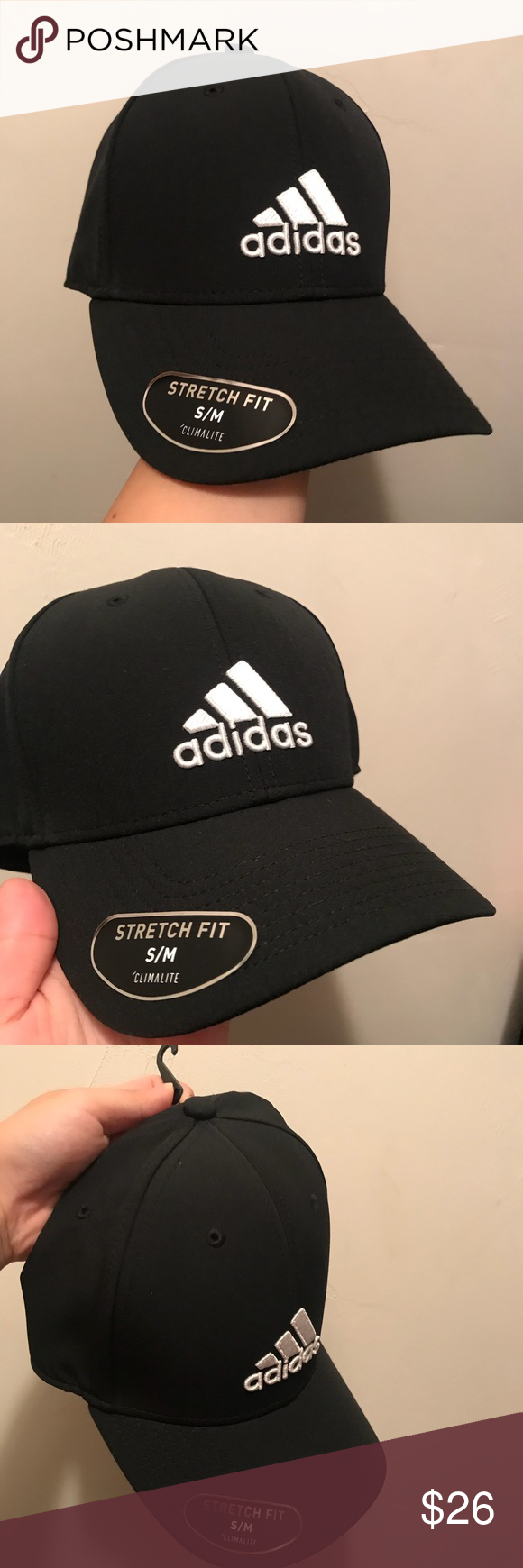 7d76471ede6 BRAND NEW MEN S ADIDAS GAME DAY STRETCH FIT HAT • Brand new • Adidas •  Men s but works for women s too! • Black