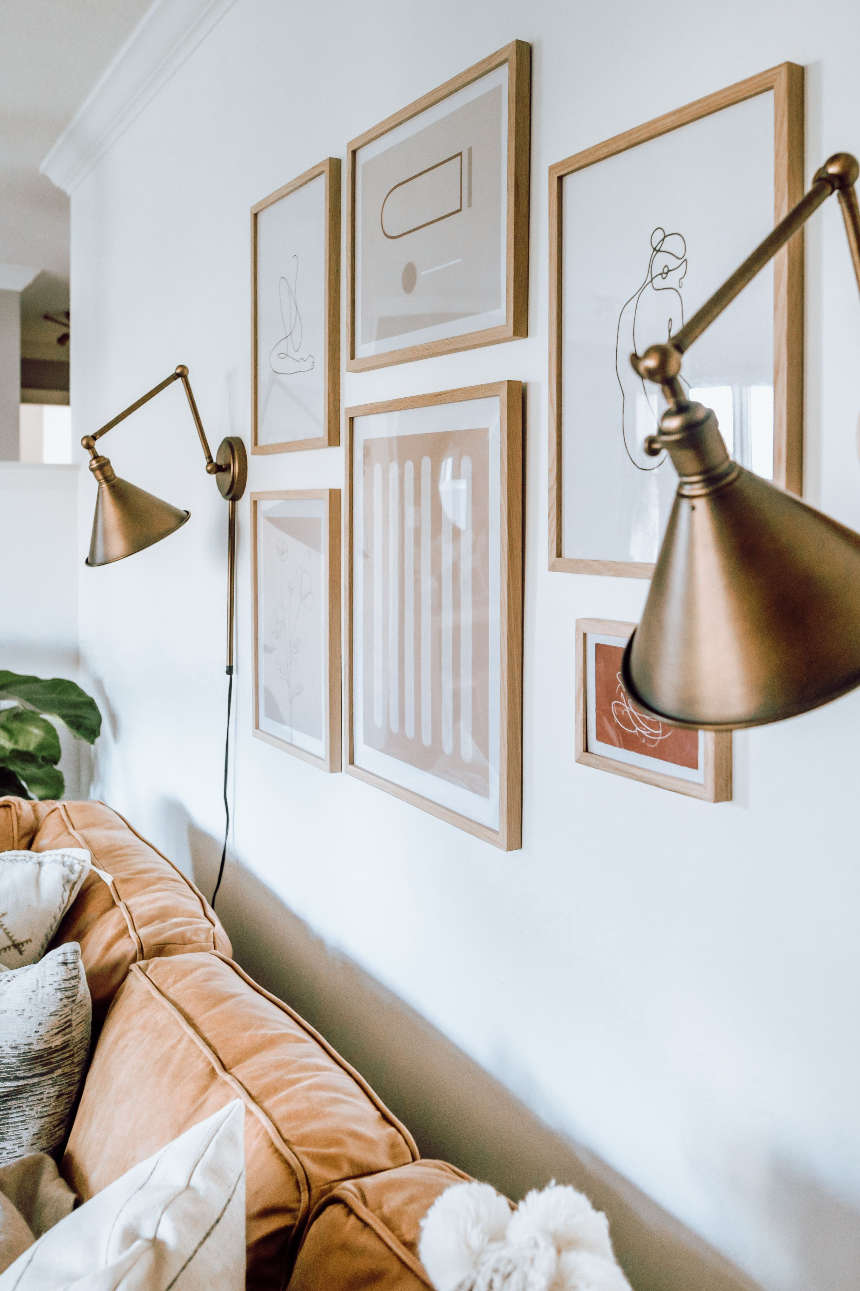 Sconce Feature Wall [ Shop Lighting in Our Home – The Blog – Older Content