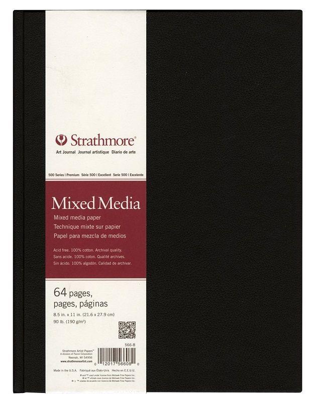 Strathmore Art journal.  Dummy met mooie, stevige kaft.  Mooie kwaliteit papier 190 grams, 64 pagina's. Zuurvrij en geschikt voor alle technieken technieken.  Leverbaar in 2 maten: 14x21.6 cm en 21.6x27.9 cm .