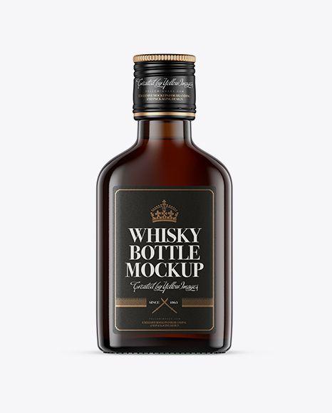 Free Mockups Amber Glass Whiskey Bottle Mockup - Front ...