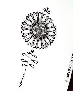 S u n f l o w e r •always searching the light• _ #doodle #unalome #unalomesymbol #unalometattoo #tattoo #tattoos #tattoodesign #design #art #arte #artist #sunflower #sunflowertattoo #girasol #tattoogirasol #girasoles #ink #inked #artwork #mandala #mandalas #doodle #doodling #dot #dots #dotwork #puntillismo