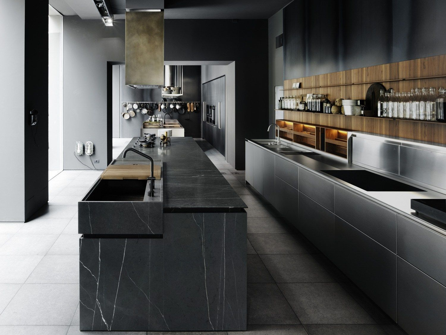 Fitted Kitchen With Island Boffi Code Kitchen By Boffi Design